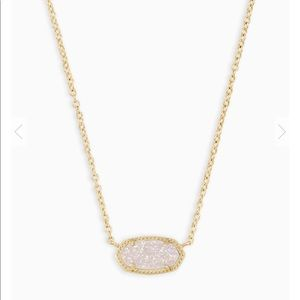 NWT Kendra Scott gold Elisa with iridescent drusy
